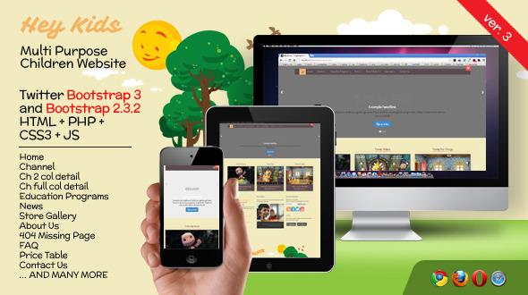 hey kids responsive multipurpose children web screenshot