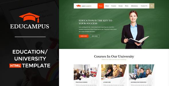 educampus education university html template screenshot