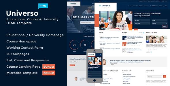 universo courses, events, education university screenshot