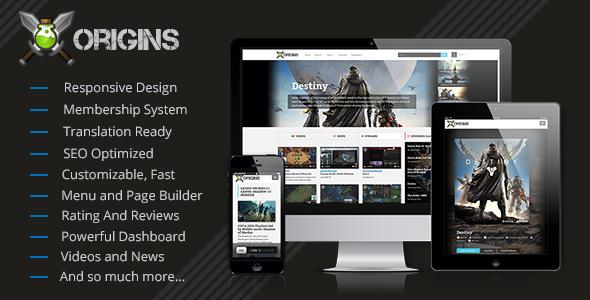 origins video games portal screenshot