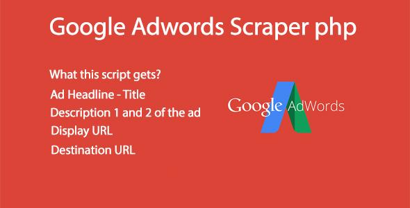 google adwords scraper script php screenshot