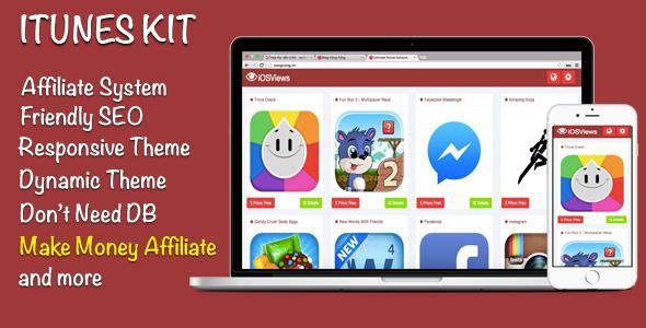 ituneskit affiliate store responsive screenshot