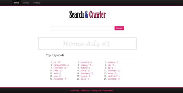 search engine crawler screenshot