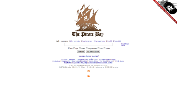 the pirate bay search engine