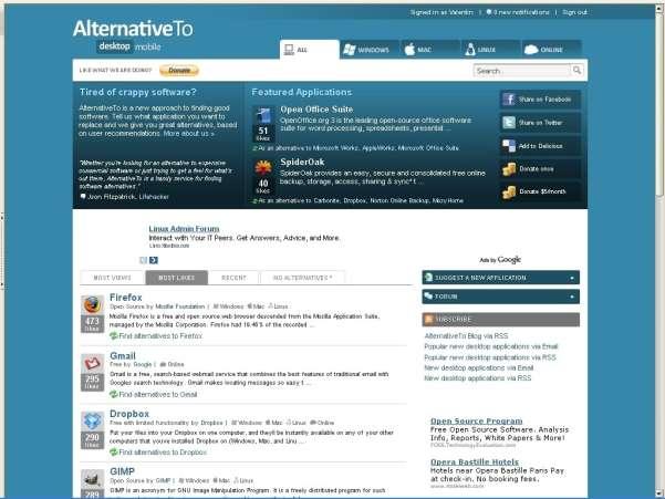 alternativeto search engine