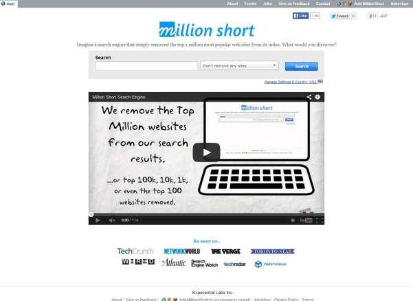 millionshort search engine