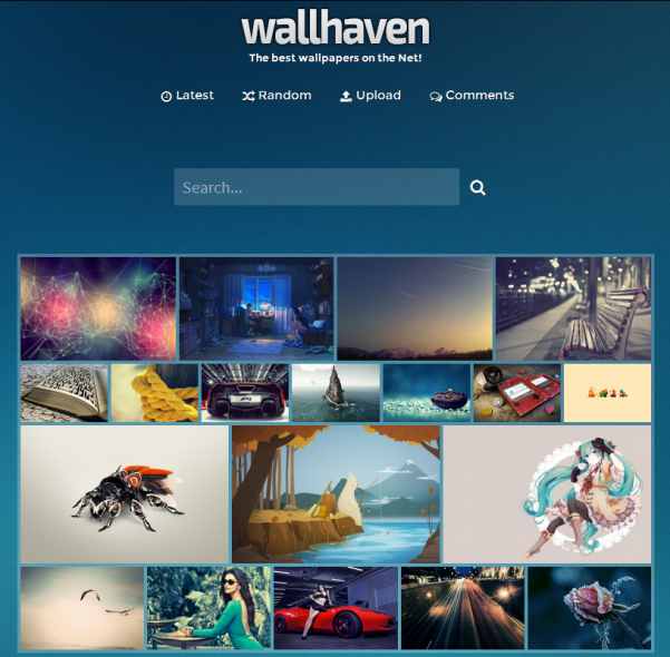wallhaven search engine
