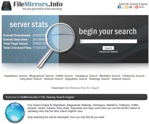 filemirror.info search engine
