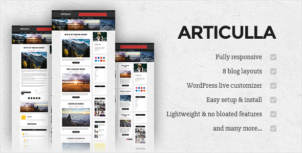 articulla wordpress that is responsive theme