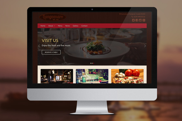 lungomare a restaurant theme that is wp width=
