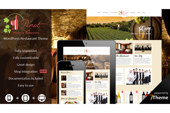 pinot restaurant winery theme
