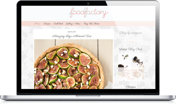 feminine food web log wordpress theme