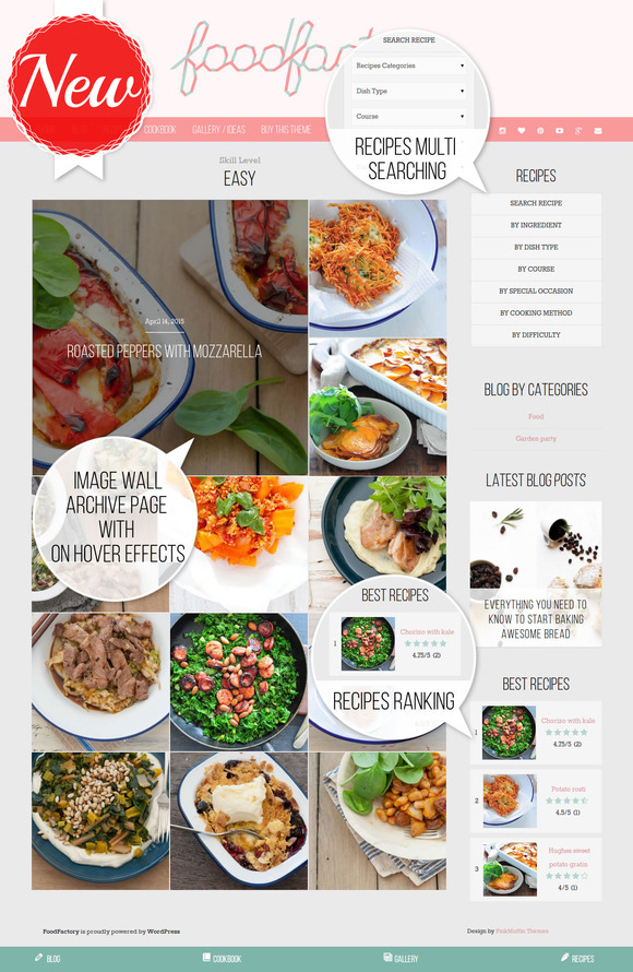 feminine food wordpress theme