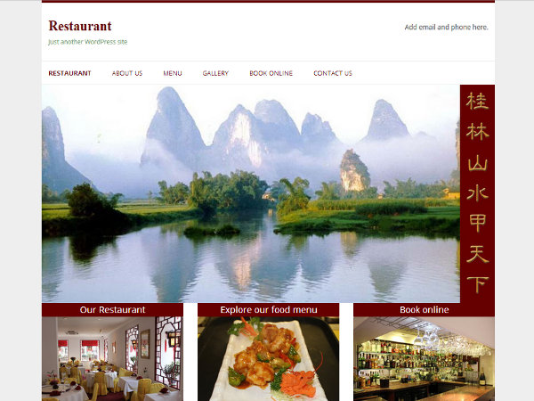 free restaurant business wordpress theme