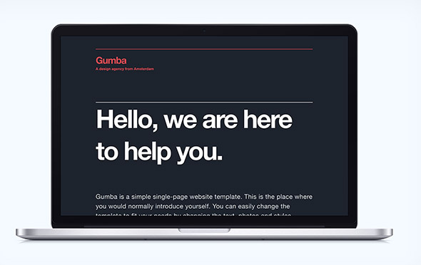 gumba html5/css3 template screenshot