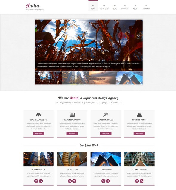 free html template andia screenshot