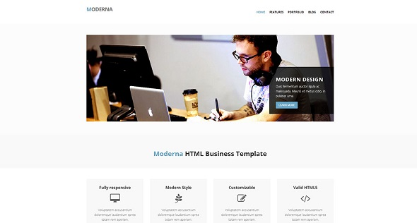 modern bootstrap html template screenshot