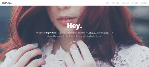 big picture html5 template screenshot