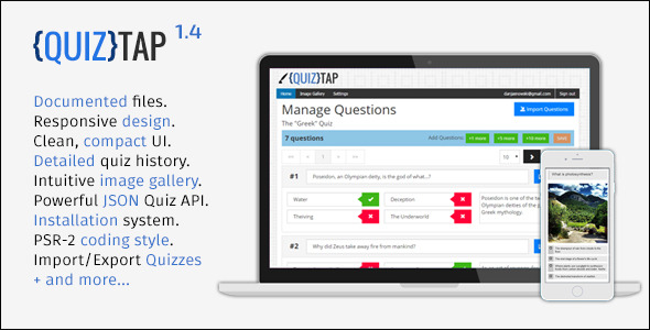 quiztap premium quiz web app