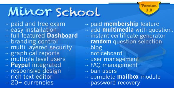 minorschool online examination system mcq