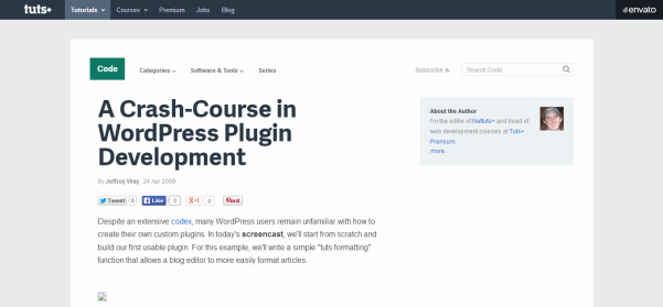 a crashcourse in wordpress plugin development