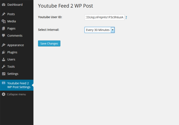 youtube video clip to wp post plugin