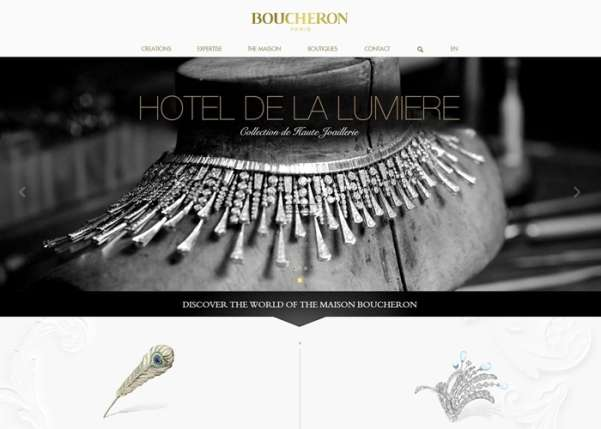 boucheron fullscreen business website design