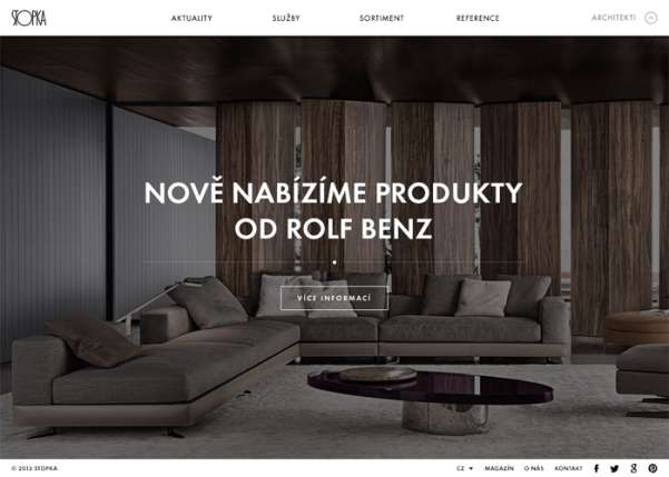 stopka furniture business website design
