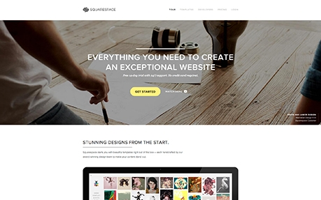 squarespace fullscreen business website design