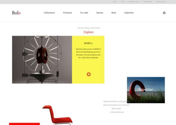 bulo, love work business website design