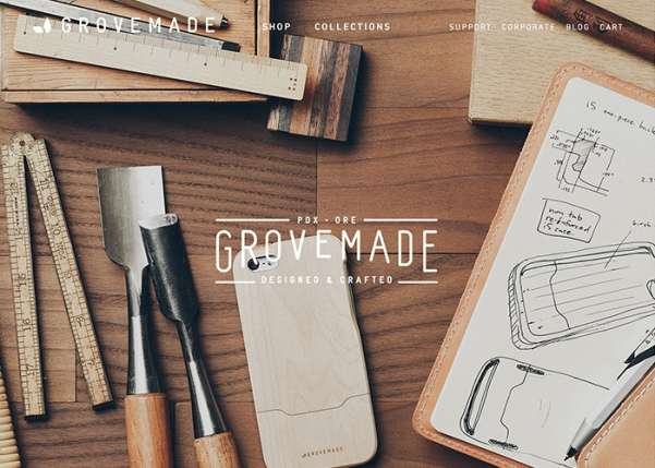 grovemade business website design