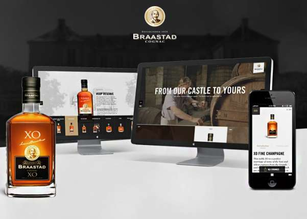 braastad cognac business website design