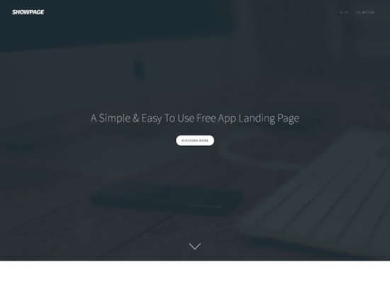 free showpage landing page website template