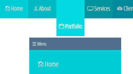 full width responsive tiled menu