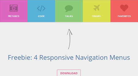 four responsive navigation menus