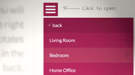 responsive menu that is multi-level width=