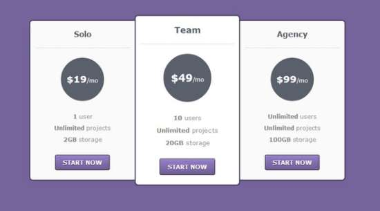 20 free html css pricing table templates ginva