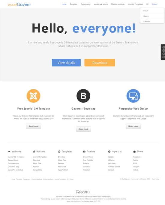meet gavern responsive joomla template