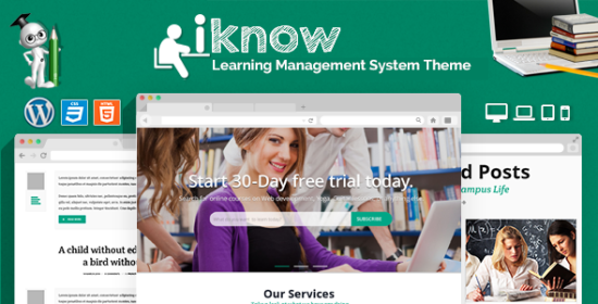 iknow learning management system wp theme
