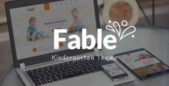 fable kids kindergarten wordpress theme