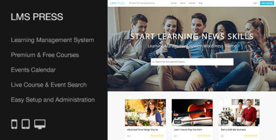lms push learning administration system theme that is wp width=