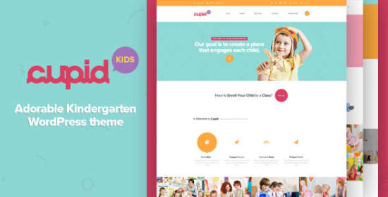 cupid adorable kindergarten wordpress theme