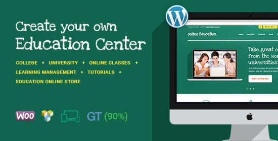 education center classes wordpress theme