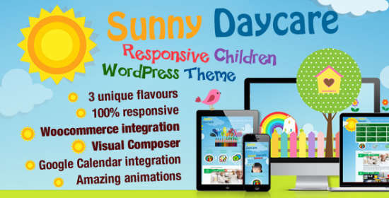 daycare kindergarden wordpress theme