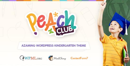 peachclub kindergarten childcare wordpress theme