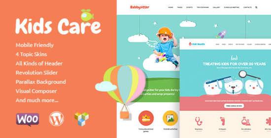 kids care multipurpose children wordpress theme