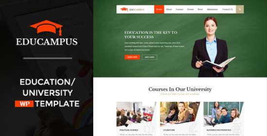 educampus education university wordpress theme