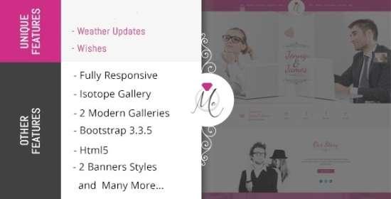 me wedding celebration html template