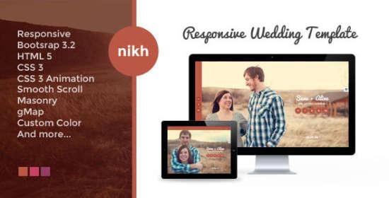 nikh responsive html wedding template