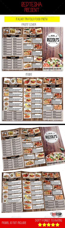 italian trifold menu